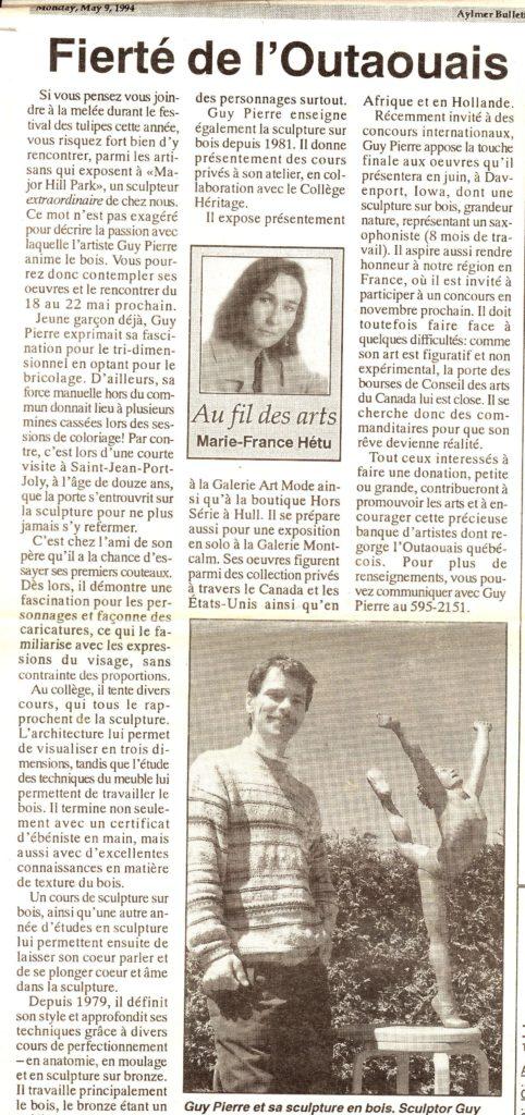Bulletin d'Aylmer - 1994