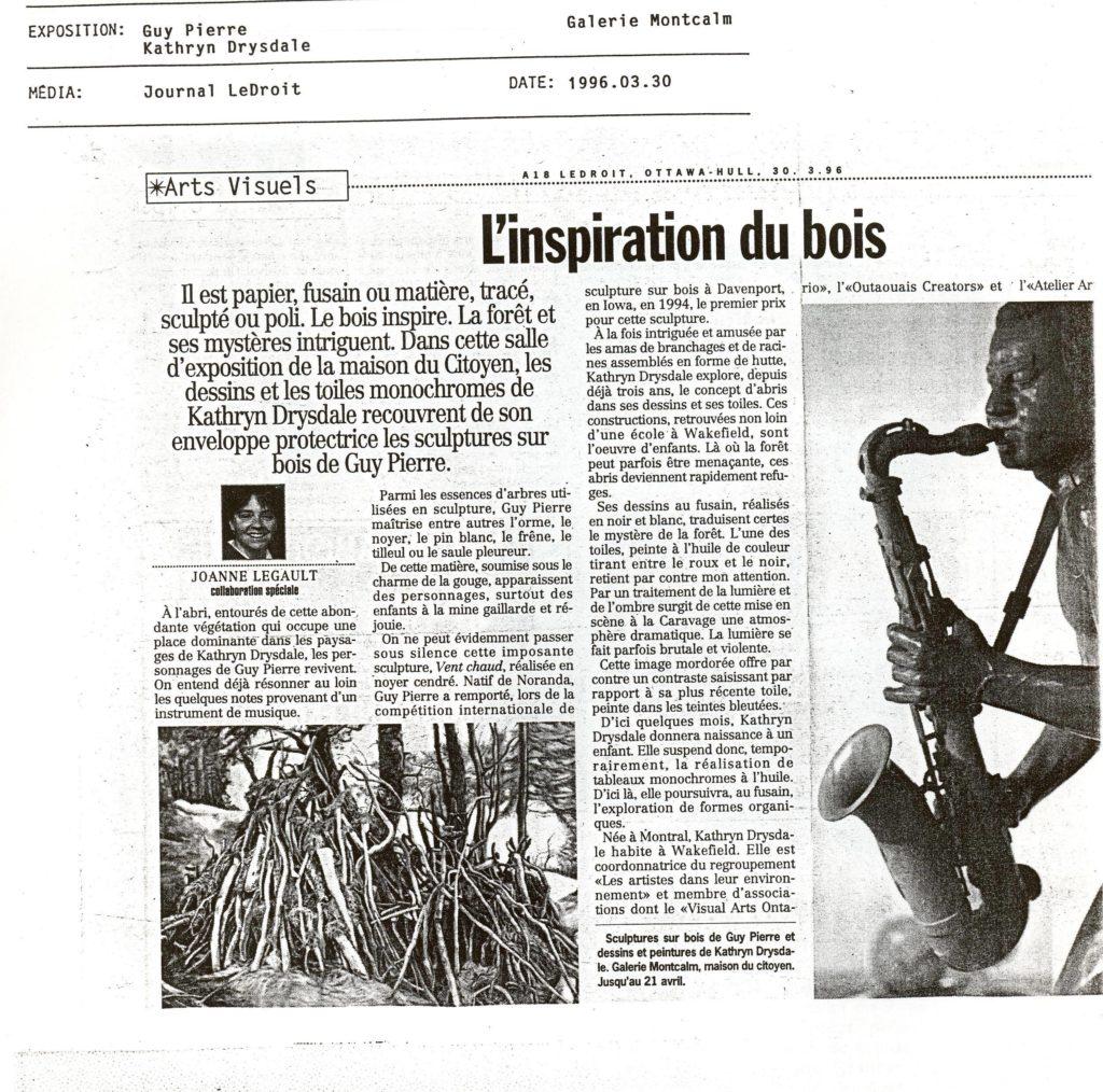 Journal Le Droit - 1996