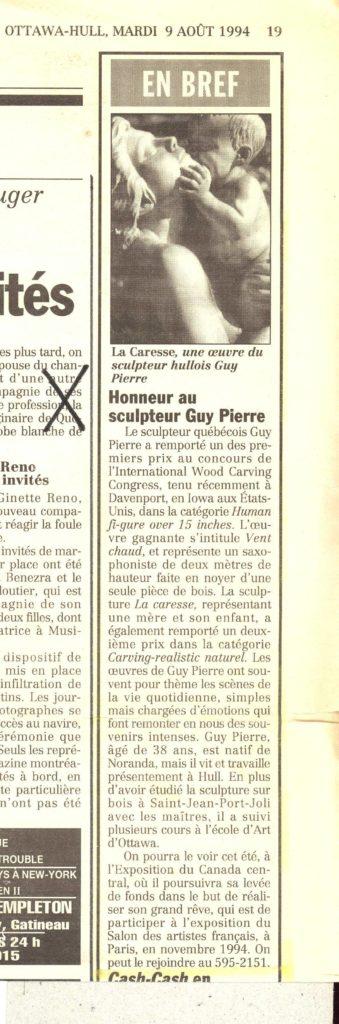 Honneur au sculpteur Guy Pierre